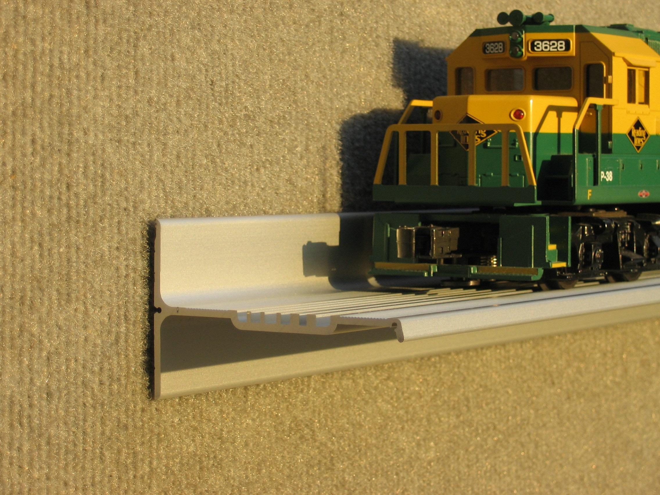 Trainshelf Aluminum Model Toy Train Display Shelves